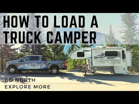 How to Load and Unload a Truck Camper on a Pickup Truck   Go North Explore More