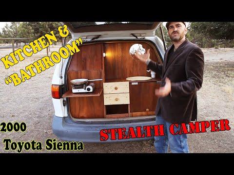 Minivan Camper Conversion, 3 days, $350, BATHROOM and KITCHEN. Toyota Sienna