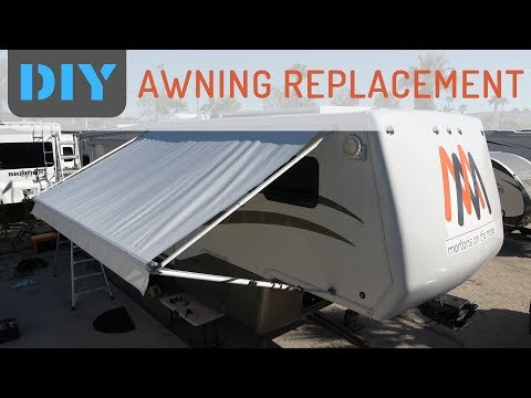 How Easy is it to Replace RV Awning Fabric? - Replacing A&E Awning & Slide Topper with Tough Top