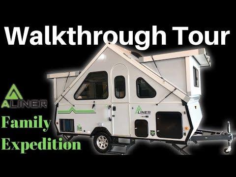 2020 Aliner Family Expedition Folding Trailer Walkthrough Tour