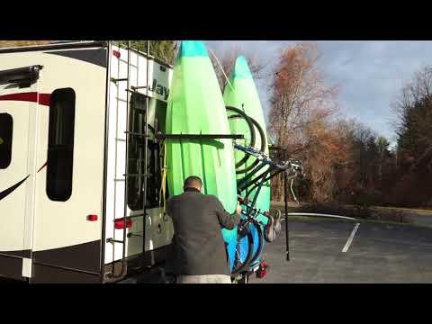 Yakups brand RV Racks Vans, Motorhome, Fifth wheel kayaks, Bikes, Paddle board, & Surf Boards,