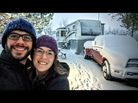 The Best RV Winter Setup: How to RV in Winter and the Gear That Will Keep You Cozy Warm!