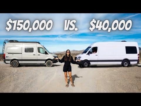 $150k vs. $40k SPRINTER VAN (full tour)