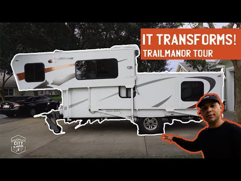 One of the COOLEST RV's You've EVER SEEN! Trailmanor 2720 Setup and Tour