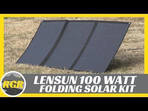 100 Watt Lightweight Portable Flexible Solar Panel Kit from Lensun   Product Review