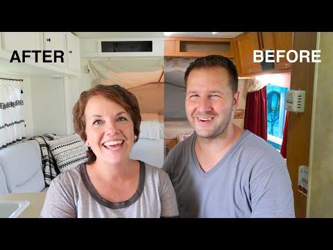 Camper Makeover Before & Afters (look inside our renovated hybrid camper!)