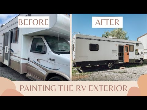 Affordable DIY RV Exterior Paint