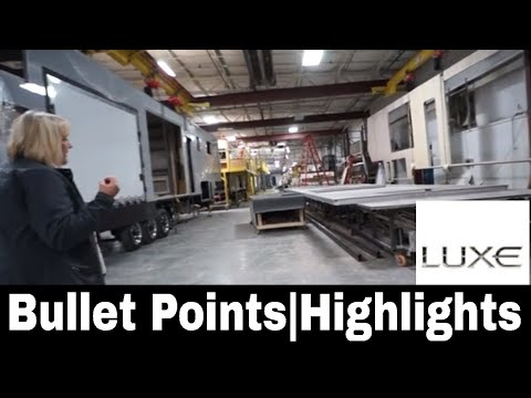 Luxe Luxury fifth wheels - Bullet Points - Highlights on our construction