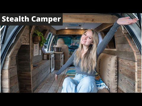 MINIVAN CAMPER CONVERSION | Van Tour of Minivan Converted to Unique Tiny Home