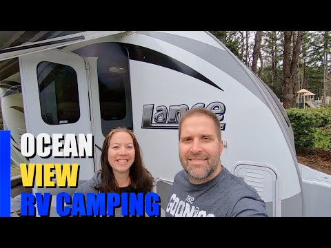 OCEAN FRONT RV CAMPING AT HARRIS BEACH STATE PARK, OREGON