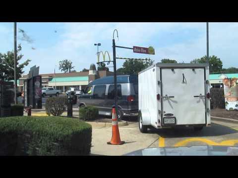 never take a trailer thru a McDonalds drive thru. WHY WOULD YOU DO THIS??!?