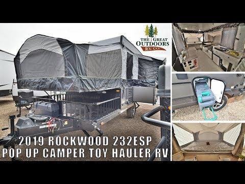 2019 FOREST RIVER ROCKWOOD 232ESP Pop Up OFF Road Toy Hauler RV Camper Greeley Dealer