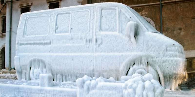 Frozen Van With Diesel Heater