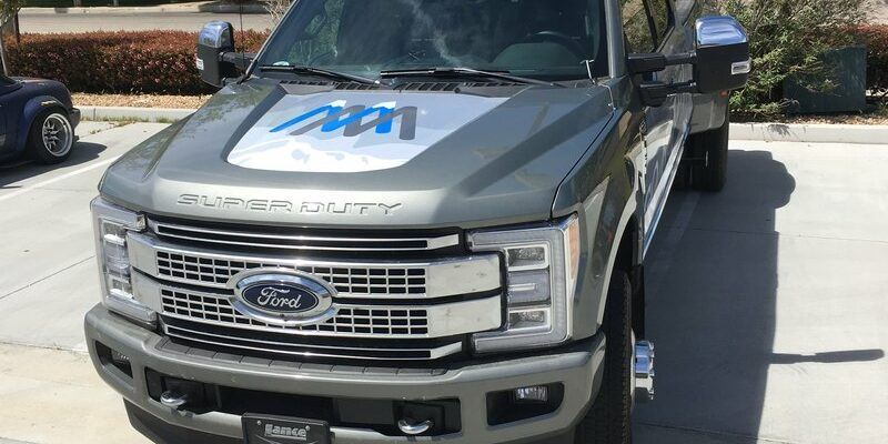 wrapped ford truck